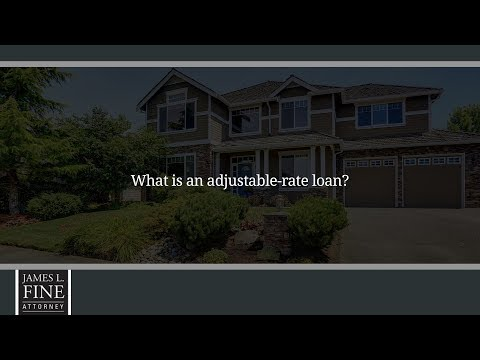 What is an adjustable-rate loan?