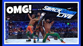 NEW DAY WIN WWE SMACKDOWN LIVE TAG TEAM CHAMPIONSHIP reaction | WWE Smackdown Live 8/21/18