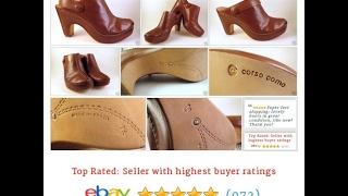 CORSO COMO Clogs Mules Brown Leather Sz 7.5 Womens Shoes  |