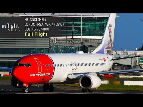 Norwegian Full Flight | Helsinki to London-Gatwick | Boeing 737-800 (with ATC)