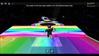 Rainbow road wii in Roblox