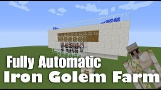 Fully Automatic Iron Golem Farm Tutorial - Minecraft 1.8