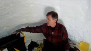 How To Build An 8 Foot Wide Igloo  (part 2 - Icebox Description)