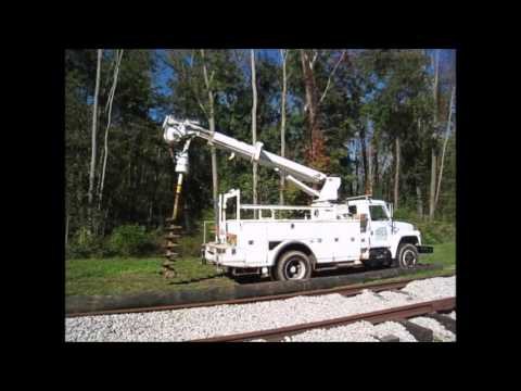 The First Overhead Line Poles Go Up At NORM