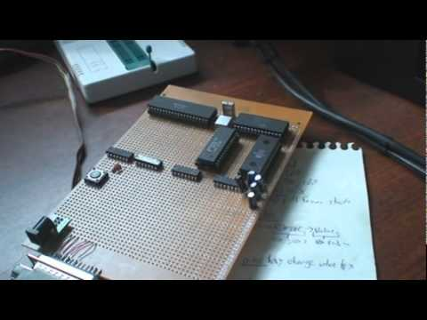 6502 Homebrew Computer: On the protoboard, plus first part of the OS
