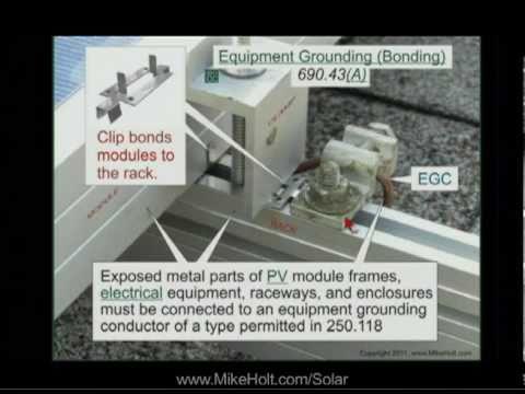 Solar PV Equipment Grounding 690.43 (5min:19sec)