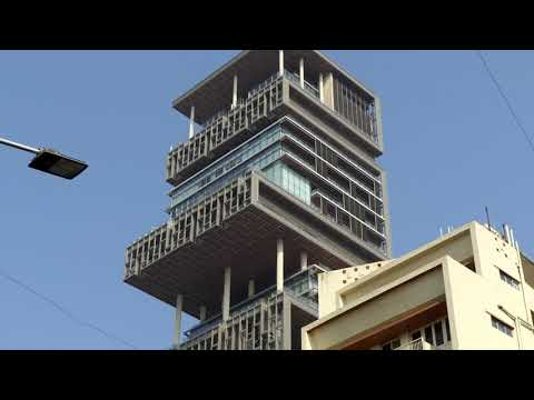 Mukesh Ambani House Antilia India In 4k Ultra Hd Youtube