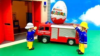 Fireman Sam and Kinder Surprise  फ़ायरमैन सैम, आश्चर्य अंडा, ovo surpresa, bombeiro Sam