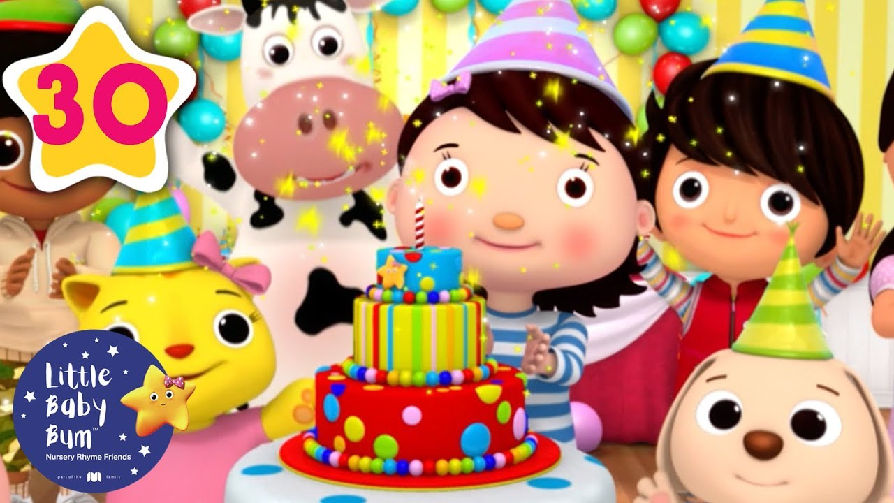 Birthday Cake Song (Happy Birthday) | Kids Songs | Little Baby Bum | ABCs and 123s
