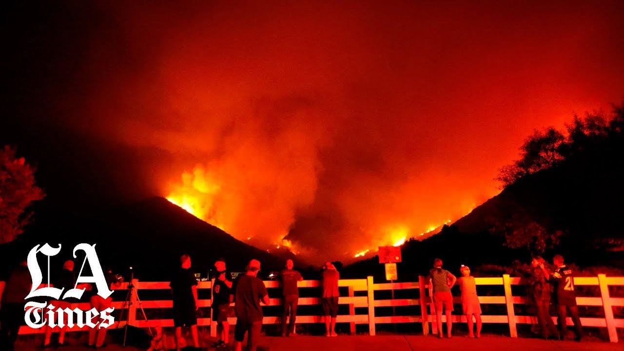 Tenaja fire near Murrieta grows to 1,400 acres - Los Angeles