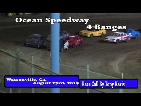 Ocean Speedway August 23rd, 2019 4 Banger Highlights