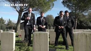 All Blacks visit Cassino War Cemetery in Italy