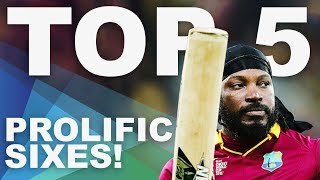 The Most Sixes at the 2015 World Cup? | Top 5 Archive | ICC Men's Cricket World Cup