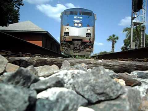 Amtrak Train The Silver Star Runs Over My Camera