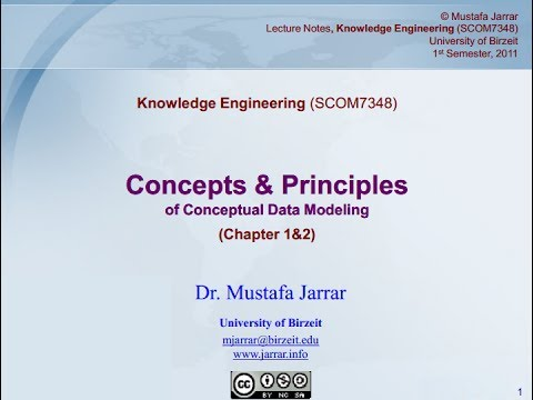 Concepts and Principles of Conceptual Data Modeling