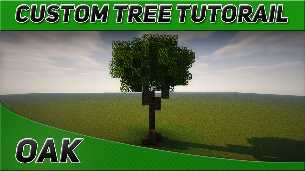 minecraft custom tree tutorial