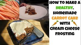 Homemade HEALTHY CARROT CAKE Recipe - Low Sugar, Low Fat, Whole Grain