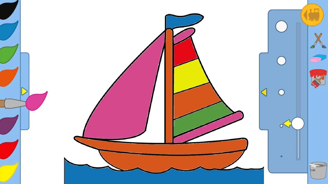 Jeu enfant dessin bateau youtube - Dessin bateau enfant ...