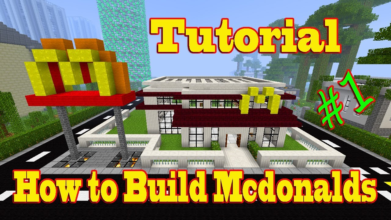 Minecraft Tutorial of How to Build Mcdonalds part-1 - YouTube