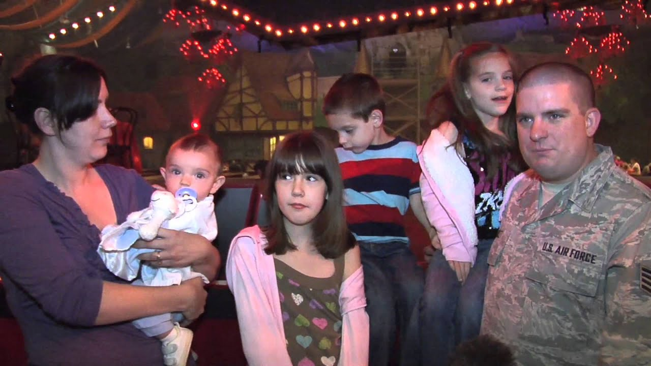 Military Family Reunites With Deployed Airman At Busch