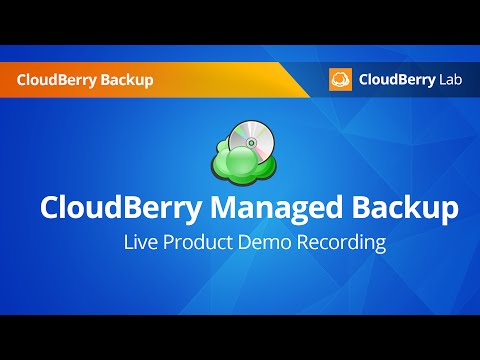 CloudBerry Managed Backup Product Demo recording