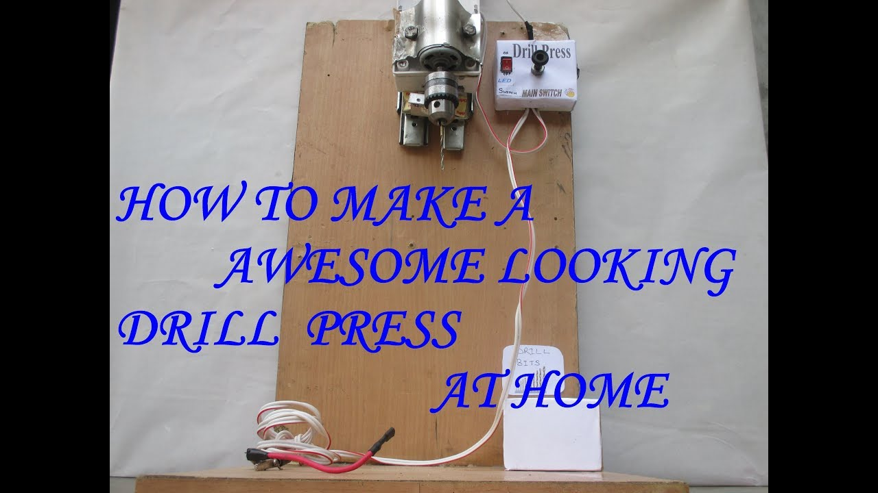 small resolution of how to make a awesome looking drill press with reverse action using 775 motor