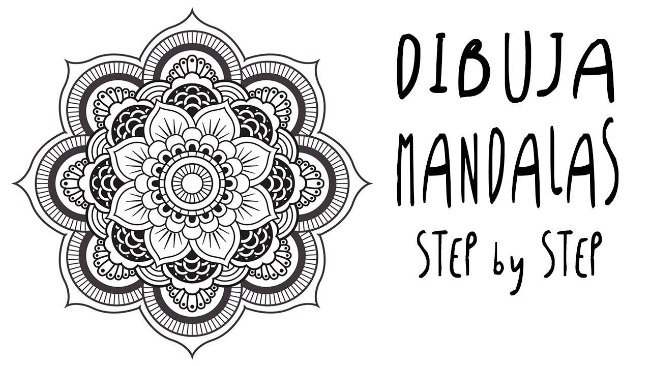 Dibujos De Mandalas: Como DIBUJAR MANDALAS A Mano Libre, Paso A Paso Para