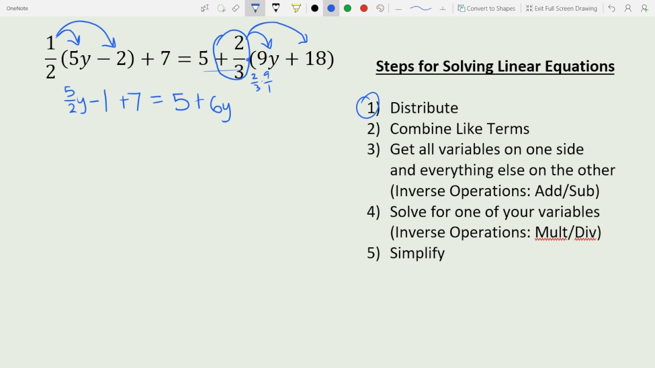 The solution of linear equations