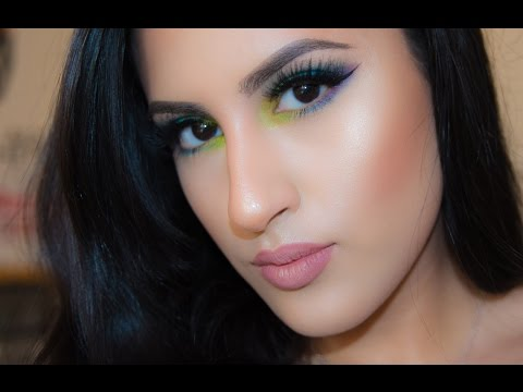 Tropical Eye Tutorial & NYX Color Palet Review
