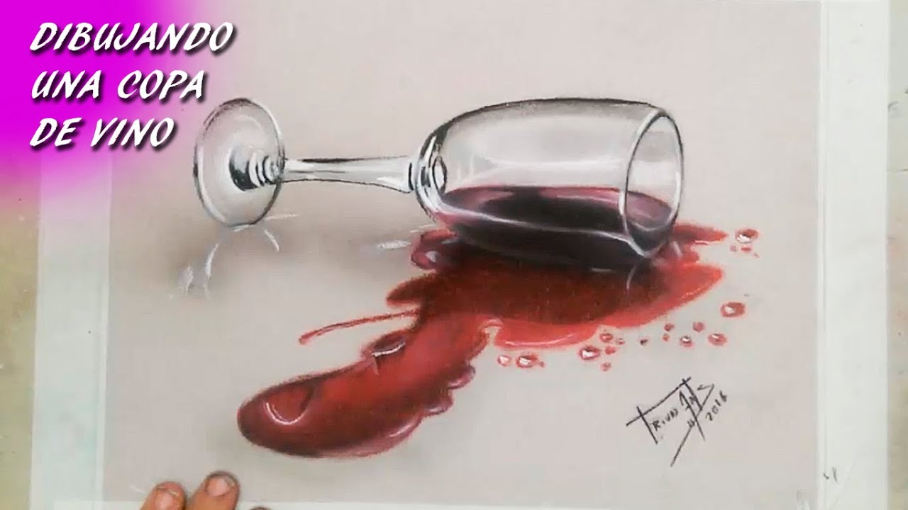 Drawing A Wineglass - YouTube