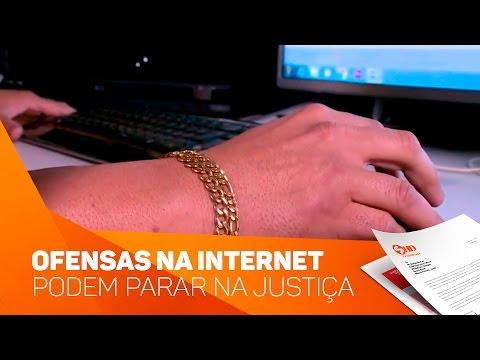 Ofensas na Internet podem parar na justiça - TV SOROCABA/SBT