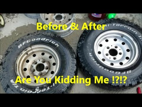Cleaning Nasty Aluminum Wheels With Household Products Wow Youtube