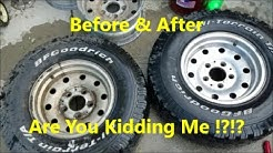 Cleaning Nasty Aluminum Wheels with Household Products - WOW !!!!