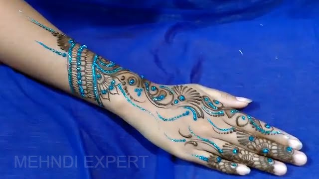 Mehndi Art Step By Step : New glitter mehndi ☆ henna design for all occasion step by