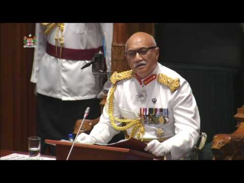 Fijian President H.E.Major-General (Ret'd) Jioji Konousi Konrote's 2016 Parliament opening address.