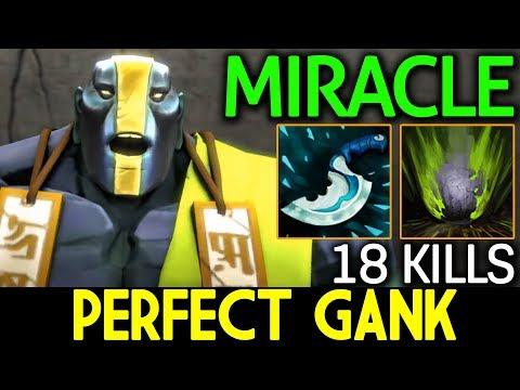 Miracle- Dota 2 [Earth Spirit] Perfect Ganking 18 Kills