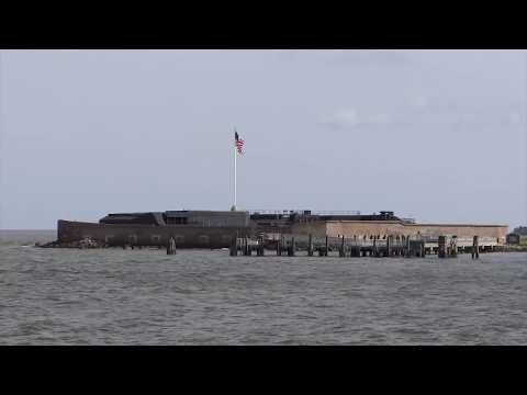Charleston, South Carolina - Sailing Out to Fort Sumter National Monument HD (2017)