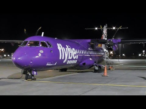 FlyBe ATR 72-500 Ronaldsway, Isle of Man to Liverpool | Full Flight