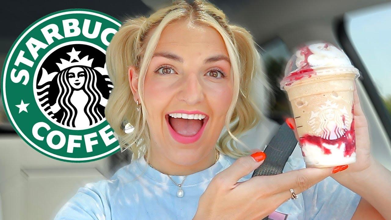 Trying Starbucks FUNNEL CAKE FRAP!!