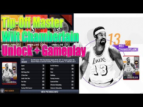 NBA Live Mobile Tip Off Master Wilt Chamberlain 86 Overall Unlock+Gameplay+Elite Tip Off Hero player
