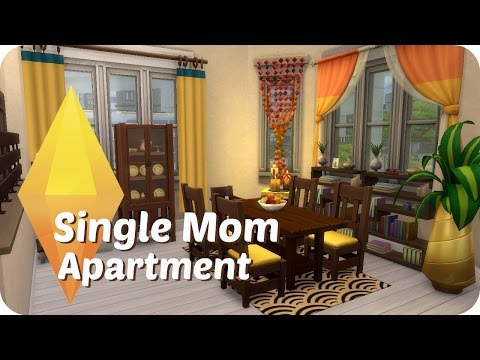 Sims 4 Speed Build | Single Mom Apartment