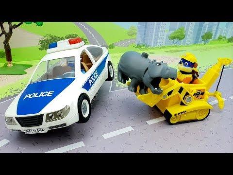 Мультики про машинки - Щенячий Патруль игрушки у видео для детей захват штаба щенков.