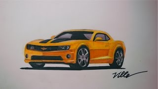 Chevrolet Camaro Speed Drawing