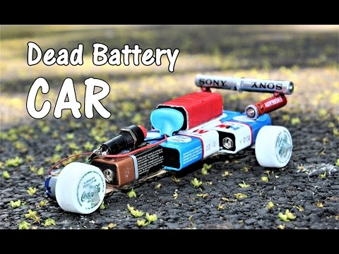 How to make a CAR using Dead Batteries - Electric CAR