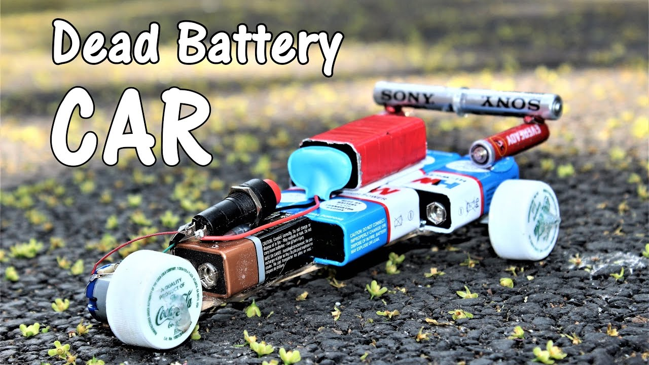 How To Make A CAR Using Dead Batteries
