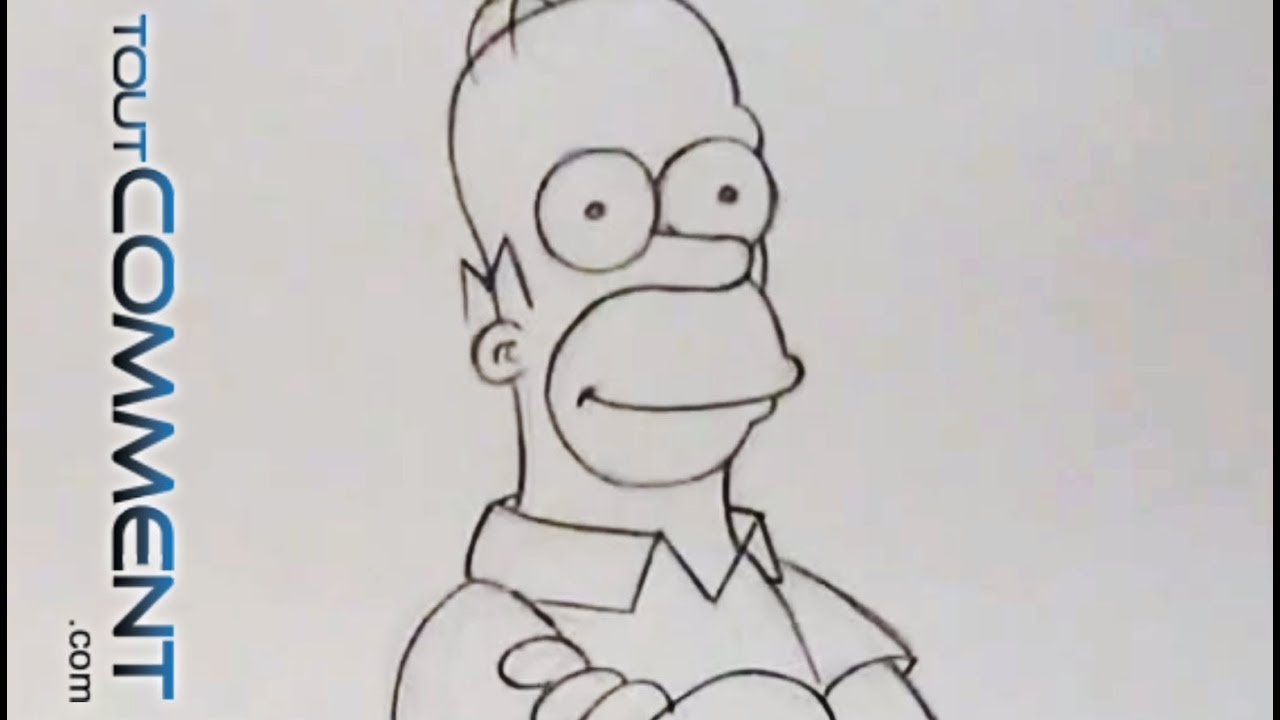 Dessin de homer simpson draw homer simpson youtube - Dessin homer simpson ...