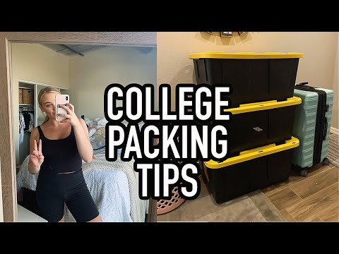 How To Pack For College   College Packing Tips