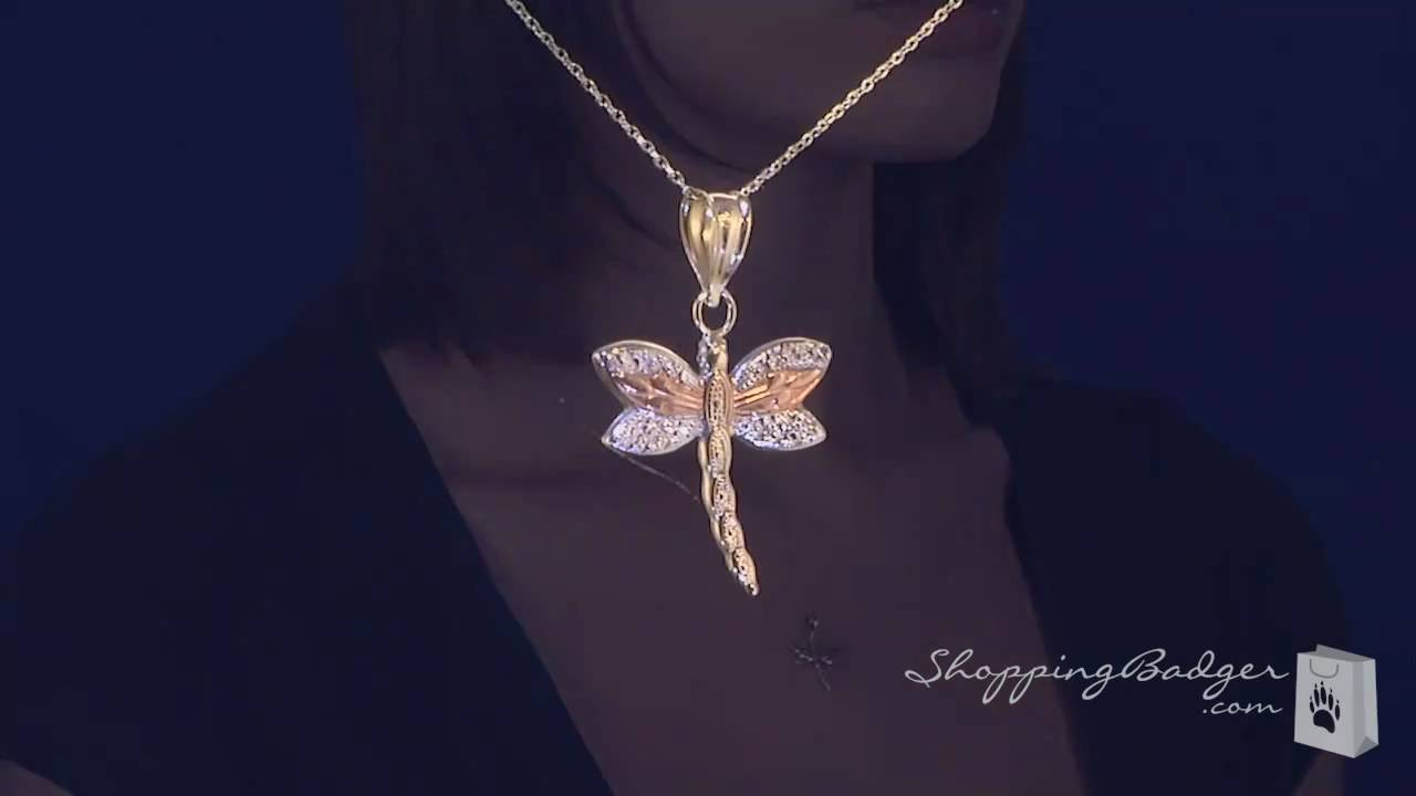 Small 14k white yellow rose gold dragonfly necklace 17 youtube small 14k white yellow rose gold dragonfly necklace 17 aloadofball Gallery