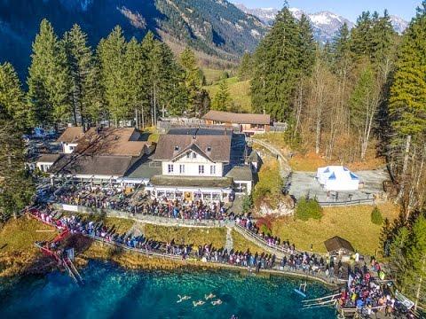 blausee schweiz schwimmen 2016