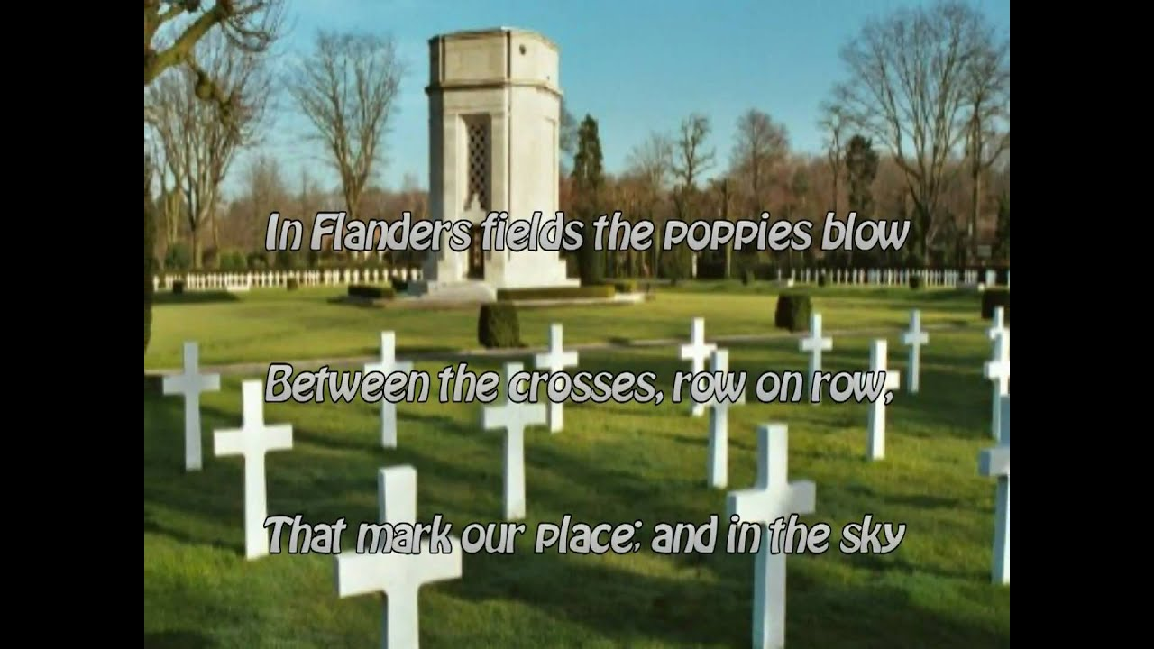 in flanders field cold commentary In flanders field cold commentary in flanders's field is a war poem filled with emotions that probably relate to world war one the strange thing this poem does not.